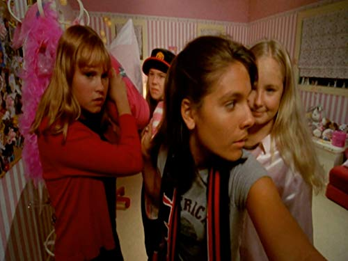 Basia A'Hern, Eliza Taylor, Ashleigh Chisholm, and Caitlin Stasey in The Sleepover Club (2003)