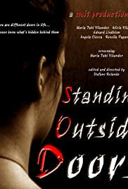 Standing Outside Doors Poster