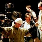 """Matt Smiley and Claude Gagnon on the set of """"Kamataki""""."""