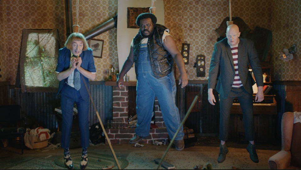 Derek Mears, Emo Philips, and Randy E. Aguebor in Hunky Boys Go Ding-Dong (2018)