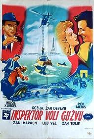 Nicole Courcel, Jane Marken, Paul Meurisse, Jean Tissier, and Louis Velle in L'inspecteur aime la bagarre (1957)