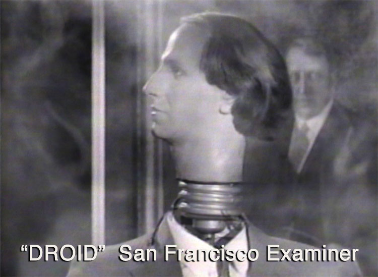 "Reporter ""Droid"" in 60 second SF Examiner Commercial"