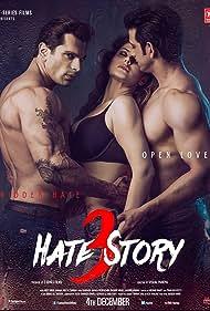 Sharman Joshi, Karan Singh Grover, and Zareen Khan in Hate Story 3 (2015)