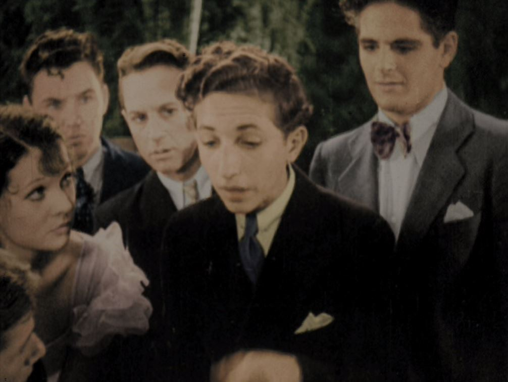 Mary Blackford, Kenneth Howell, Sidney Miller, and David Sharpe in Merrily Yours (1933)