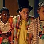 Jacob Bertrand, Cade Sutton, and Mekai Curtis in Kirby Buckets (2014)