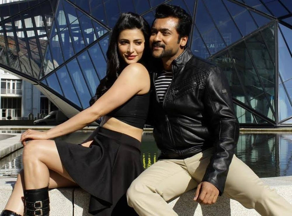 Suriya and Shruti Haasan in Singam 3 (2017)