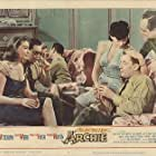 Robert Mitchum, Claudia Barrett, Martha Hyer, France Nuyen, Louis Nye, and Jack Webb in The Last Time I Saw Archie (1961)