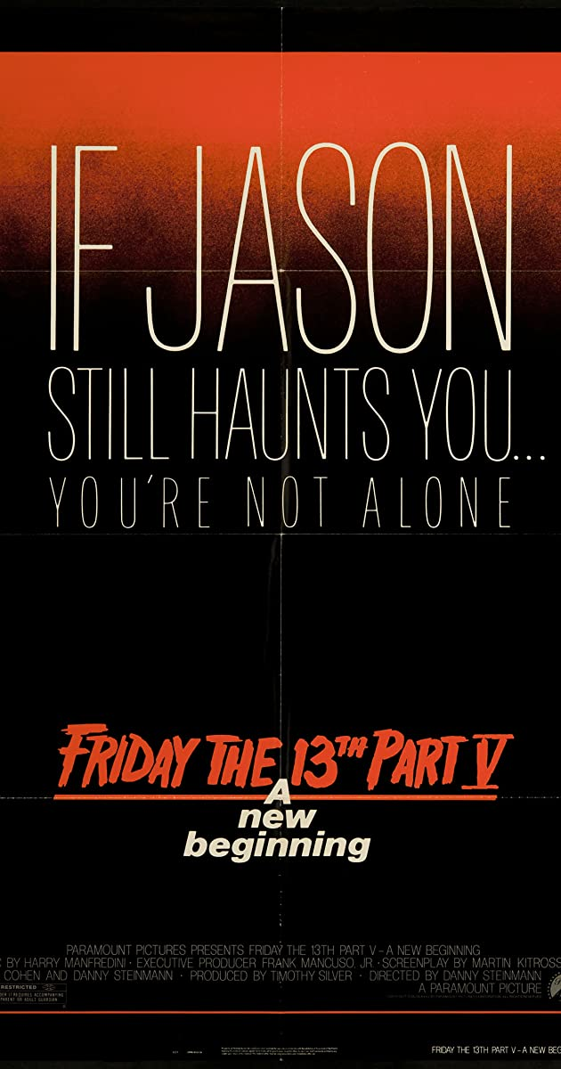 Subtitle of Friday the 13th: A New Beginning
