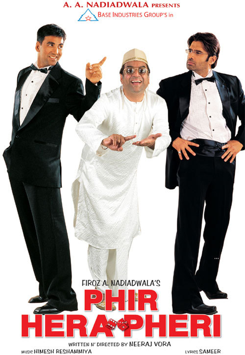 Phir Hera Pheri 2006 Hindi Movie 400MB HDRip ESubs Download