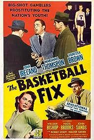 William Bishop, Hazel Brooks, Vanessa Brown, John Ireland, Johnny Sands, and Marshall Thompson in The Basketball Fix (1951)