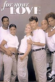 Tamala Jones, Holly Robinson Peete, Edafe Okurume, James Lesure, D.W. Moffett, and Dedee Pfeiffer in For Your Love (1998)