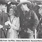 Johnny Mack Brown, Kirby Grant, Raymond Hatton, and Jan Wiley in Law Men (1944)