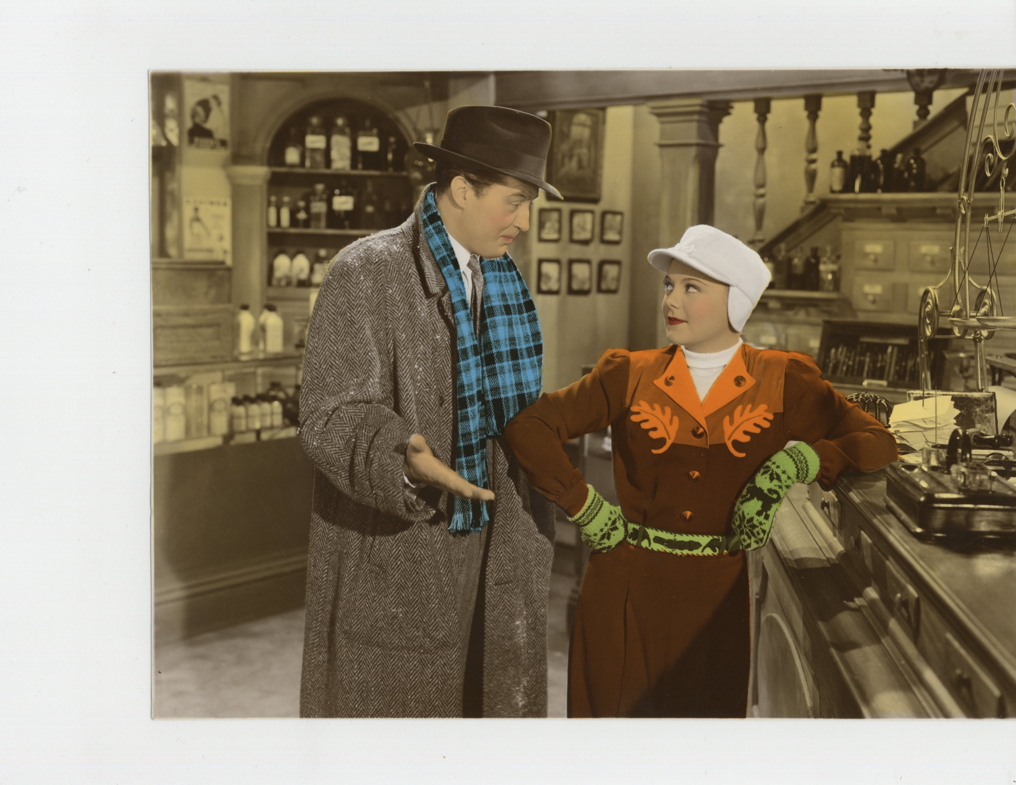 Ray Milland and Sonja Henie in Everything Happens at Night (1939)