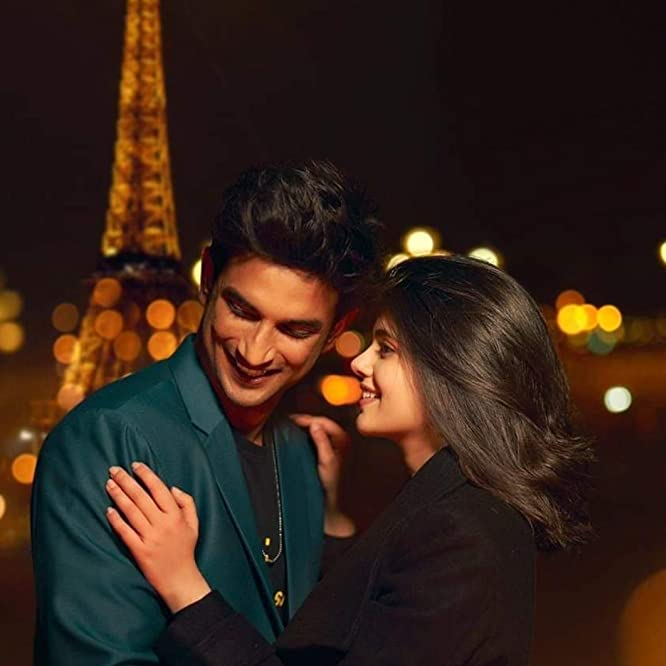 Sushant Singh Rajput and Sanjana Sanghi in Dil Bechara (2020)