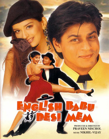 English Babu Desi Mem 1996 Hindi 500MB HDRip ESubs Download
