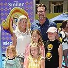 Tori Spelling, Dean McDermott, Stella McDermott, Liam McDermott, Hattie McDermott, and Finn McDermott at an event for The Emoji Movie (2017)