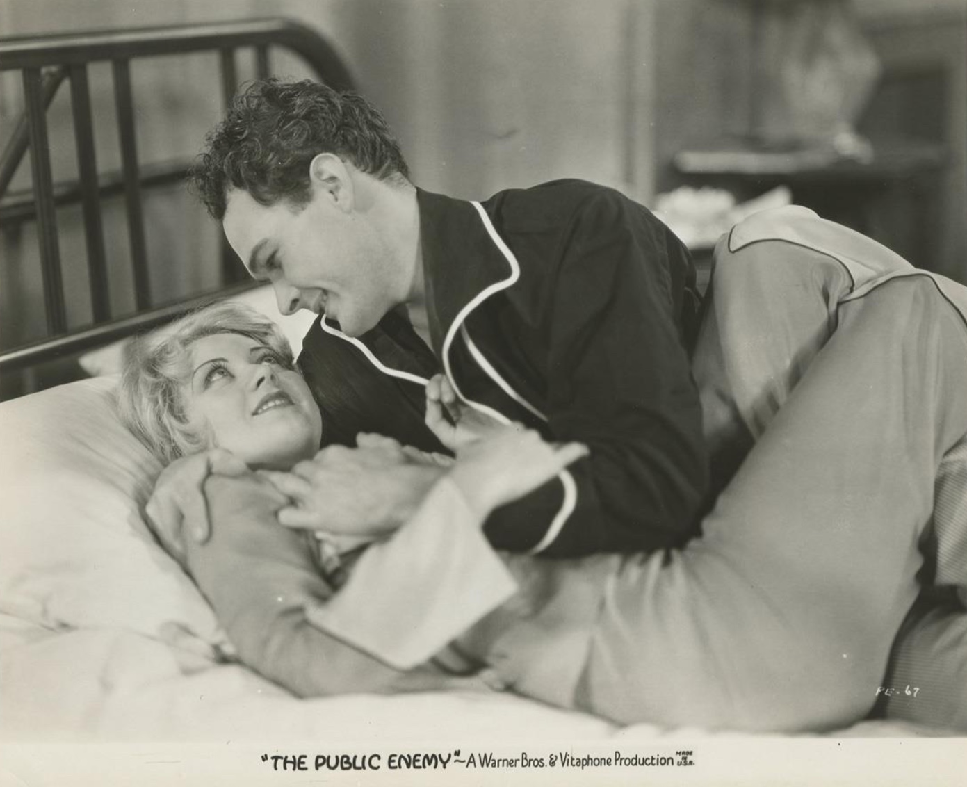 Joan Blondell and Edward Woods in The Public Enemy (1931)
