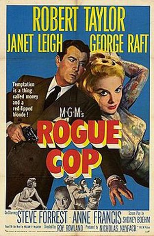 Janet Leigh and Robert Taylor in Rogue Cop (1954)