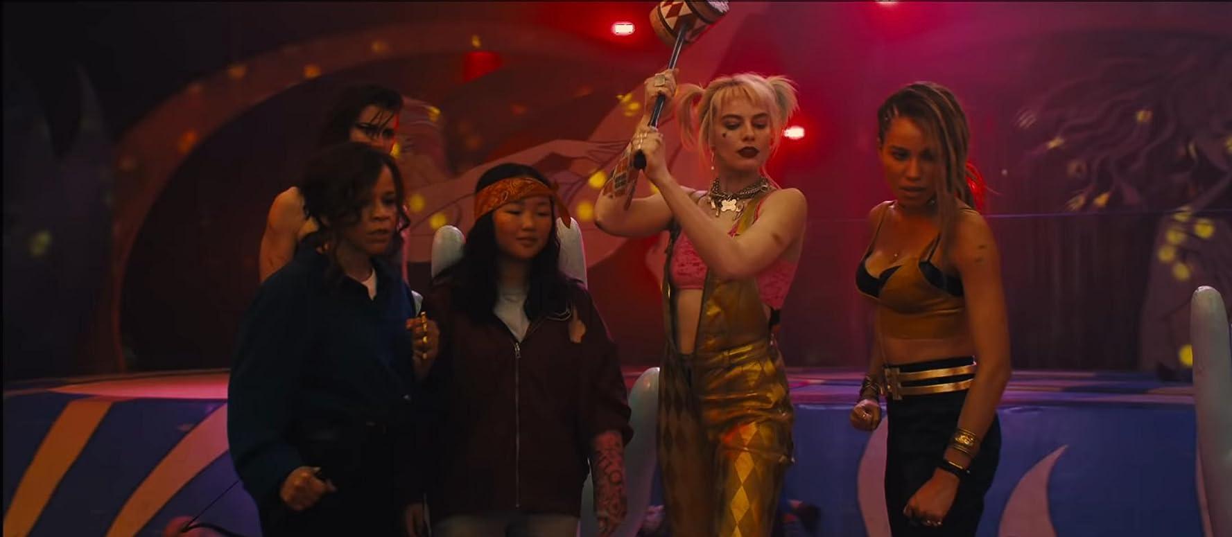 Rosie Perez, Jurnee Smollett-Bell, Mary Elizabeth Winstead, Margot Robbie, and Ali Wong in Birds of Prey: And the Fantabulous Emancipation of One Harley Quinn (2020)