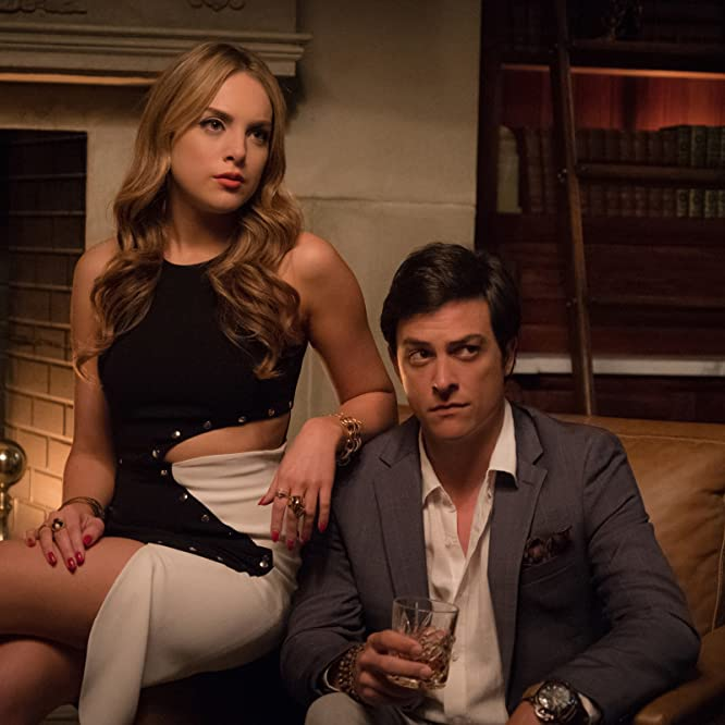 Elizabeth Gillies and James Mackay in Dynasty (2017)