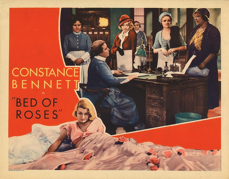 Constance Bennett, Jane Darwell, Pert Kelton, and Mildred Washington in Bed of Roses (1933)