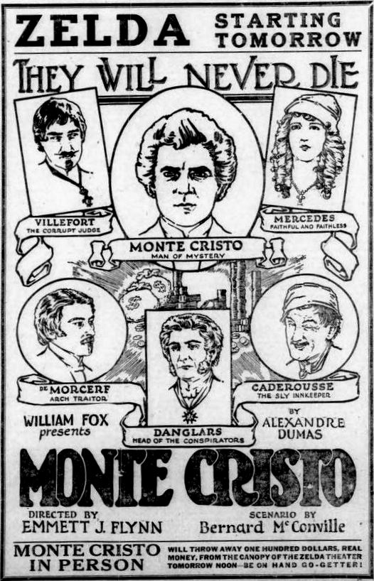 Ralph Cloninger, John Gilbert, Robert McKim, William V. Mong, Albert Prisco, and Estelle Taylor in Monte Cristo (1922)