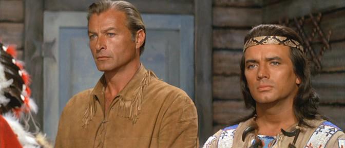 Lex Barker and Pierre Brice in Winnetou - 2. Teil (1964)
