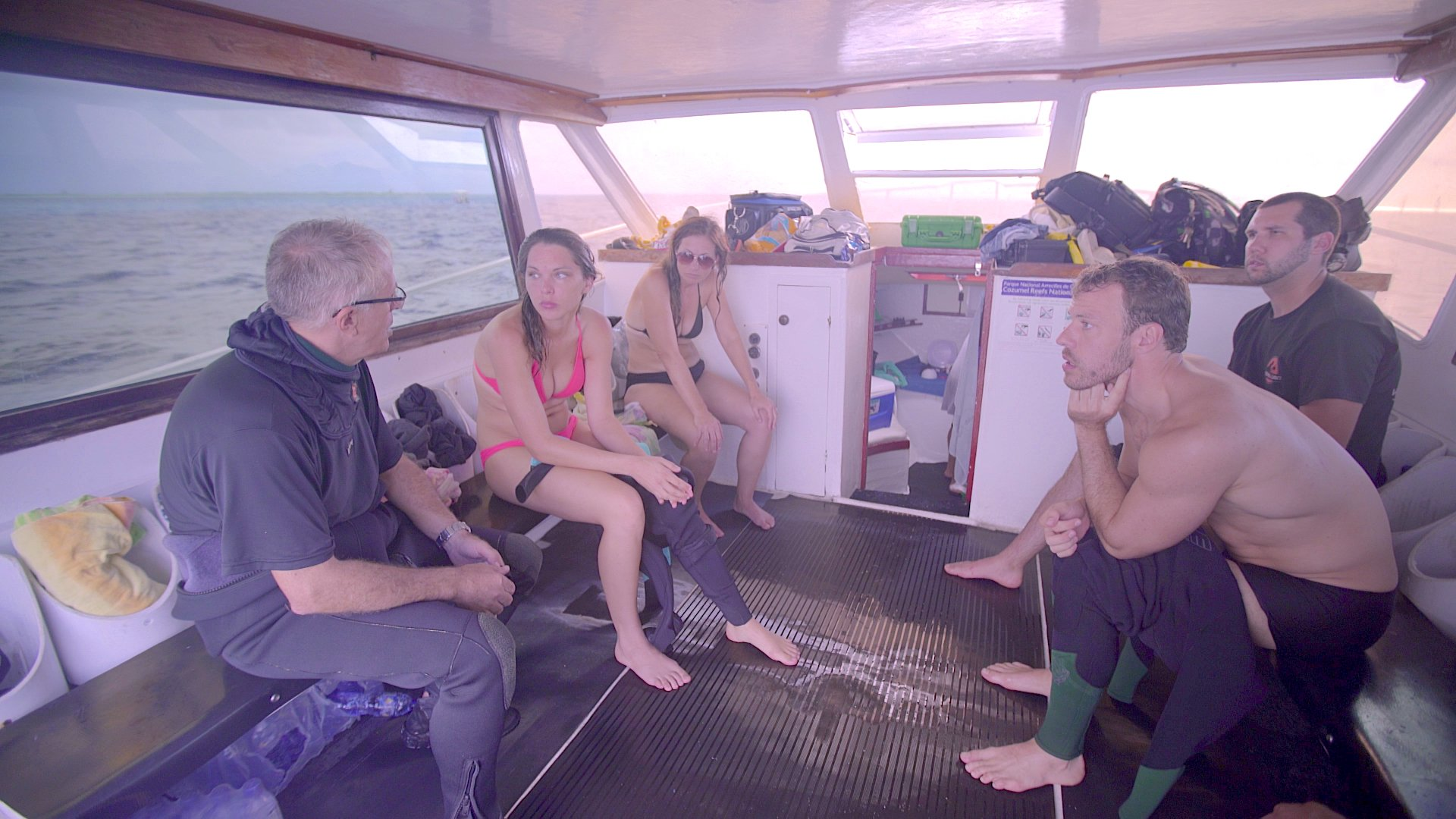 Kat Green, Falk Hentschel, Kimberly Leemans, Blake Christian, and Guy Chaumette in The Big Swim (2016)