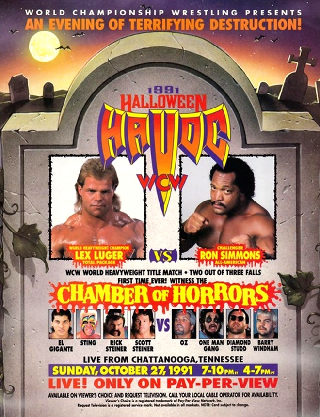 Image result for wcw halloween havoc 1991 poster