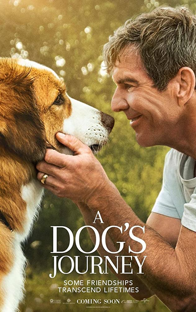 Dennis Quaid and Josh Gad in A Dog's Journey (2019)