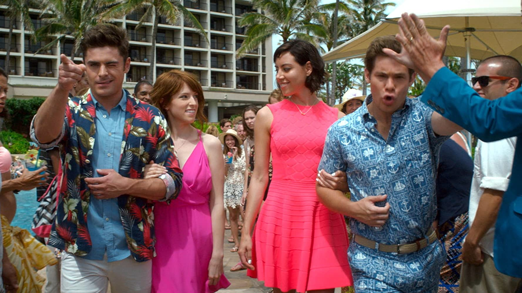 Anna Kendrick, Zac Efron, Aubrey Plaza, and Adam Devine in Mike and Dave Need Wedding Dates (2016)