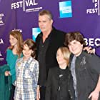 Christian is at the premiere of Snowmen at the Tribeca Film Festival in NYC with Ray Liotta, Bobby Coleman, Josh Flitter and Carolina Andrus.