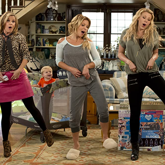 Andrea Barber, Candace Cameron Bure, Jodie Sweetin, and Fox Messitt in Fuller House (2016)