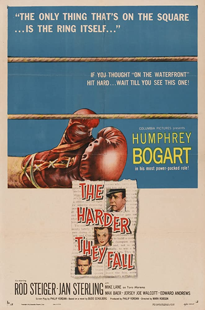 Humphrey Bogart, Rod Steiger, and Jan Sterling in The Harder They Fall (1956)