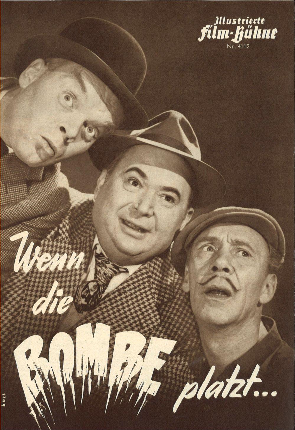 Oskar Sima, Rudolf Platte, and Hans Richter in Wenn die Bombe platzt (1958)