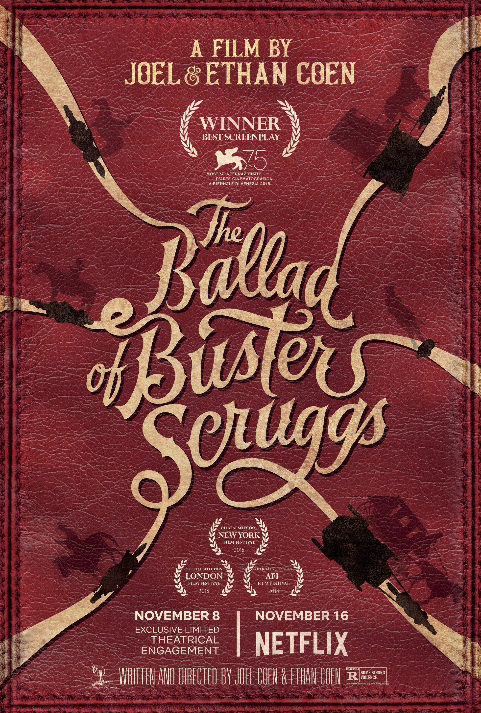 Image result for ballad of buster scruggs movie poster