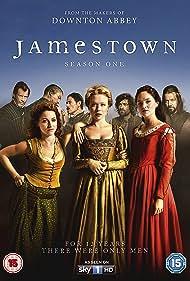 Jason Flemyng, Sophie Rundle, Naomi Battrick, Stuart Martin, and Niamh Walsh in Jamestown (2017)