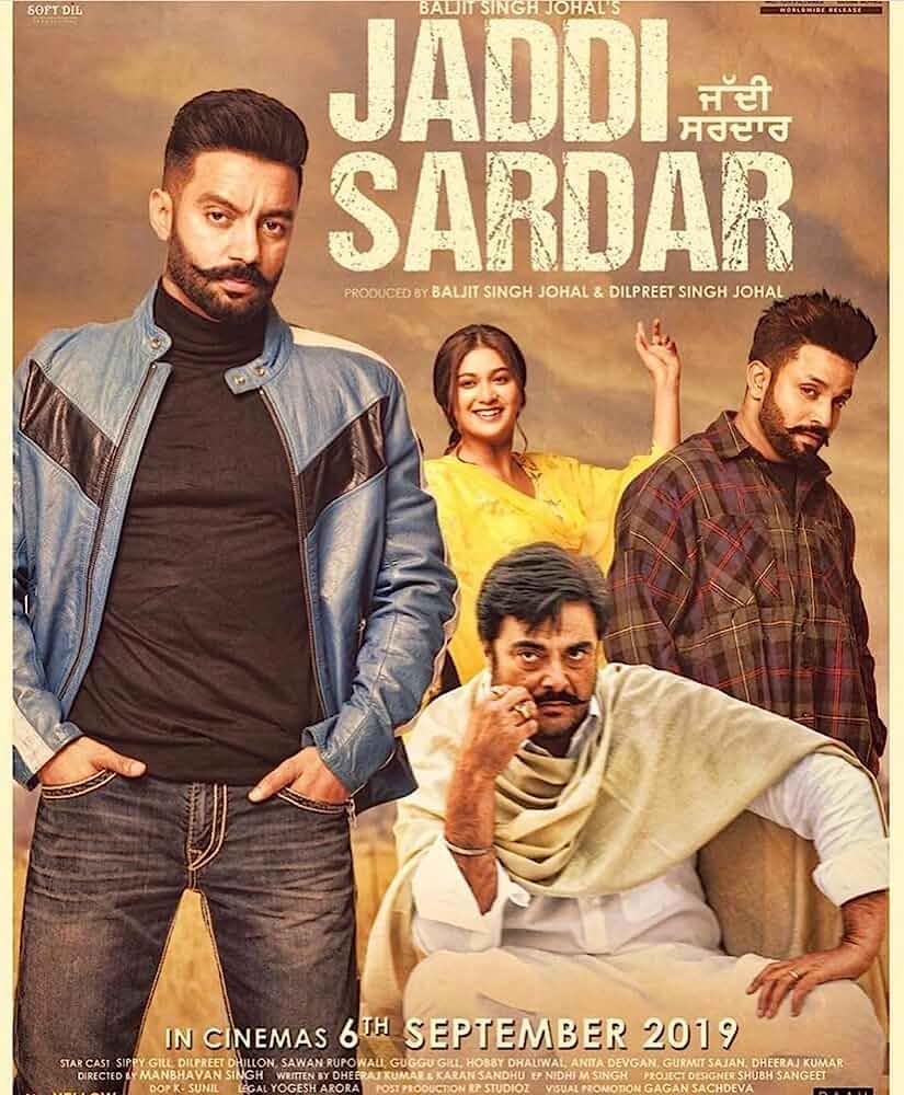 Jaddi Sardar 2019 Punjabi 480p HDRip x264 ESubs Full Punjabi Movie 450MB