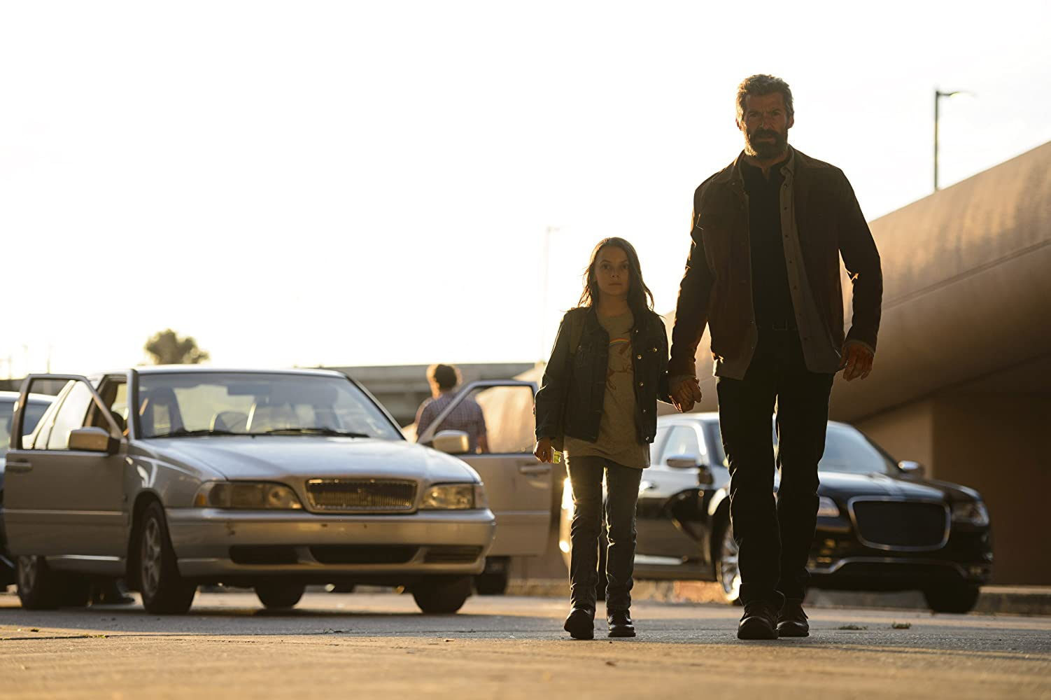 Hugh Jackman and Dafne Keen in Logan (2017)