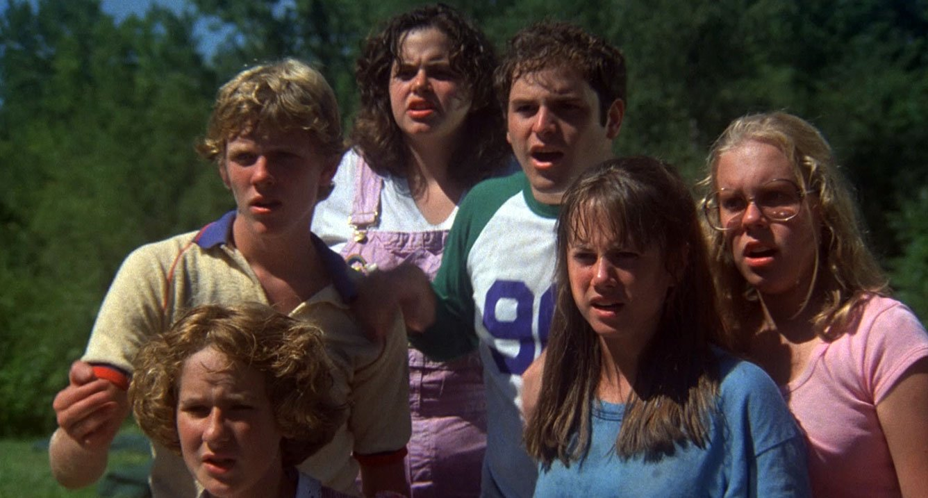 Holly Hunter, Jason Alexander, Shelley Bruce, Bonnie Deroski, George Parry, and Ame Segull in The Burning (1981)
