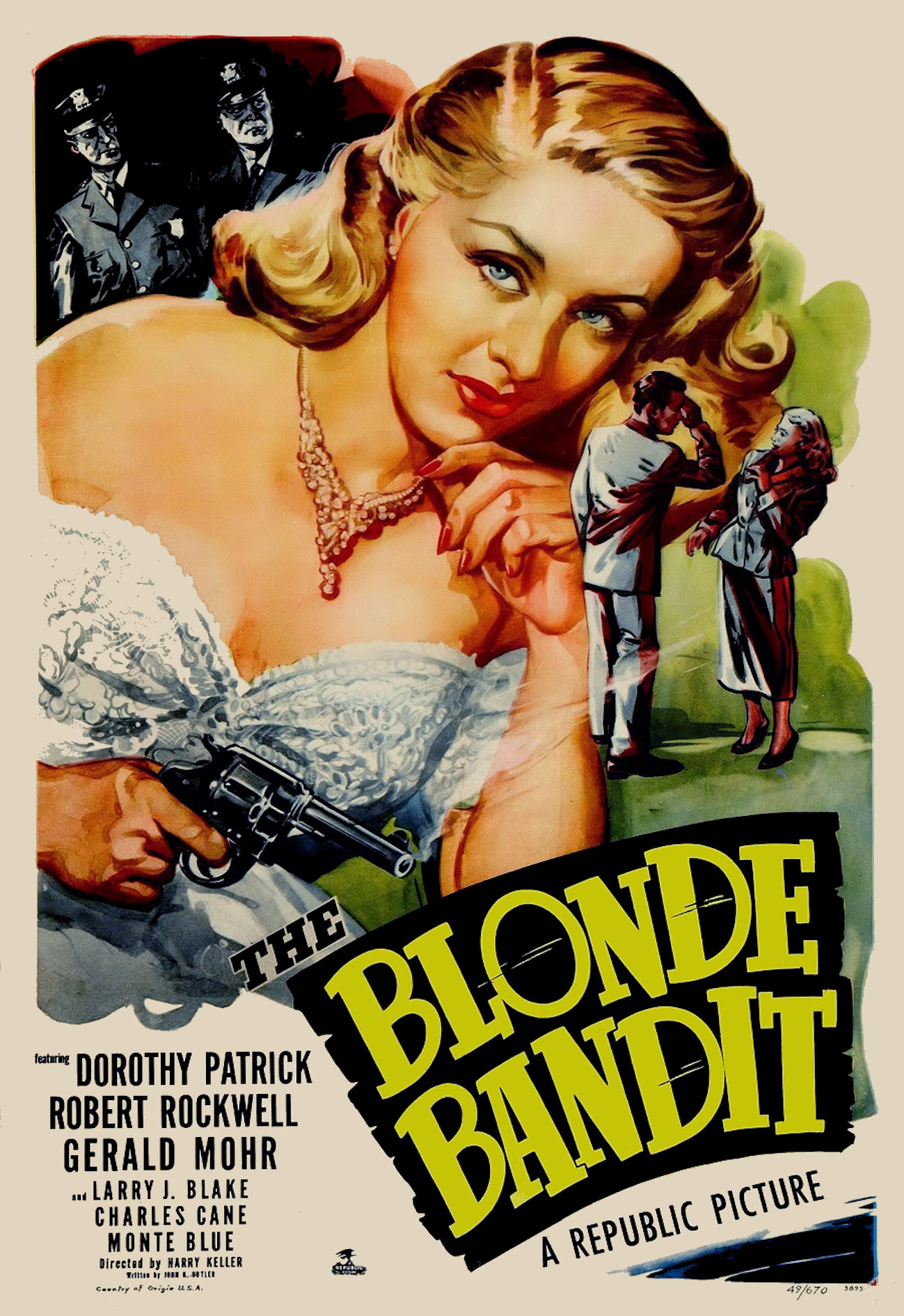 Dorothy Patrick in The Blonde Bandit (1950)