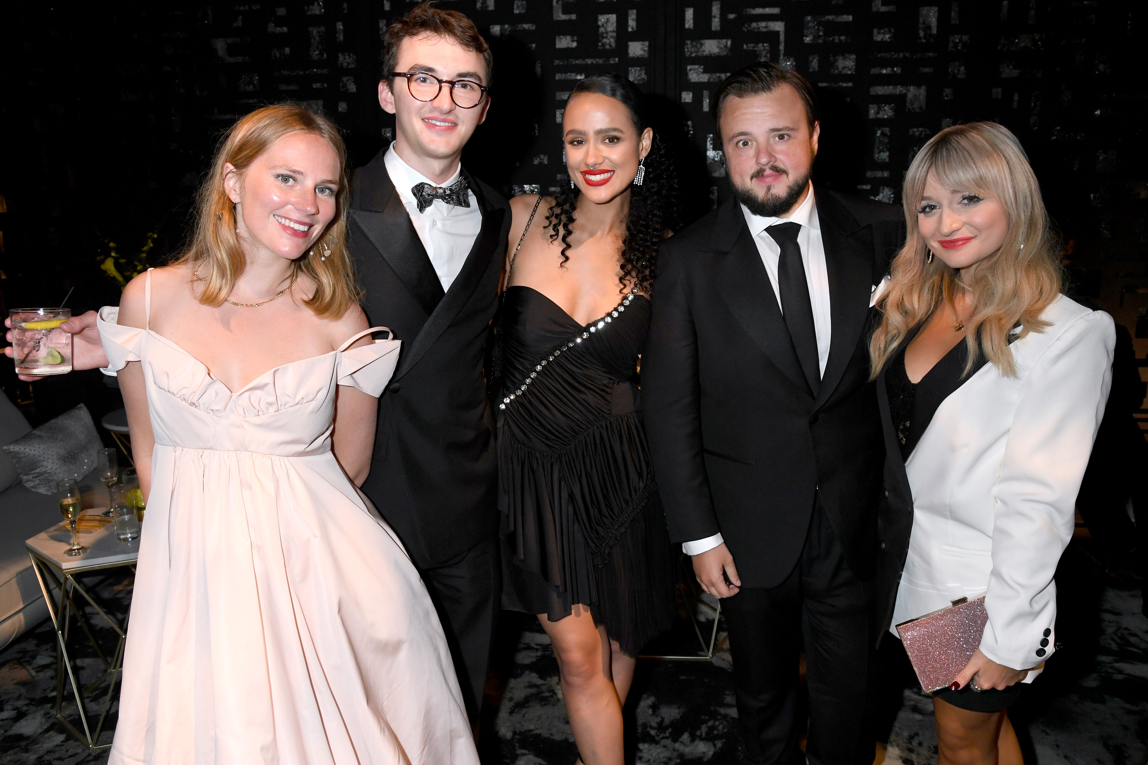 Nathalie Emmanuel, Isaac Hempstead Wright, and John Bradley at an event for The 71st Primetime Emmy Awards (2019)