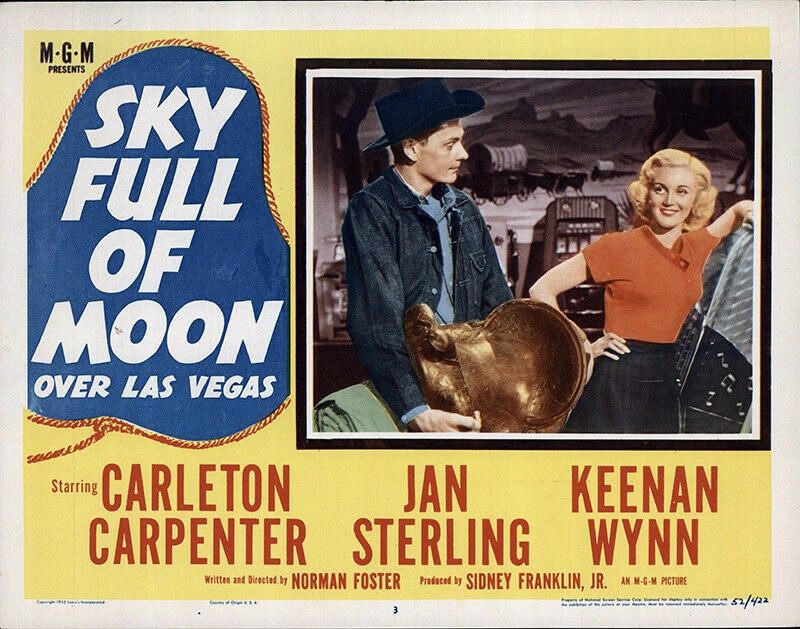 Jan Sterling, Carleton Carpenter, and Keenan Wynn in Sky Full of Moon (1952)