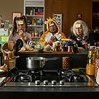 Franck Dubosc, Alexandra Lamy, Christiane Millet, Mathilde Roehrich, and Nils Othenin-Girard in Le sens de la famille (2020)
