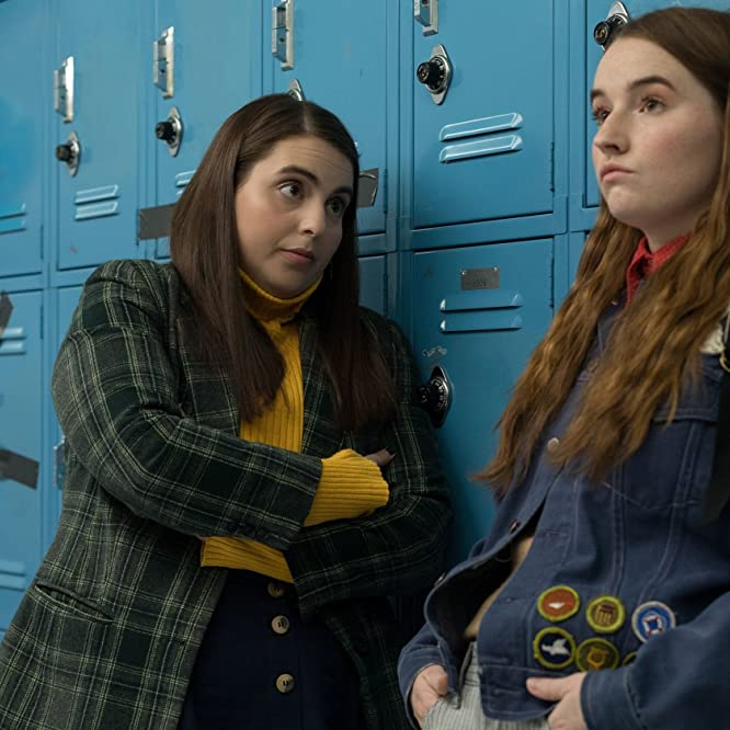 Beanie Feldstein and Kaitlyn Dever in Booksmart (2019)