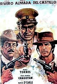 Mario Almada, Eric del Castillo, and Jorge Rivero in El cortado (1979)