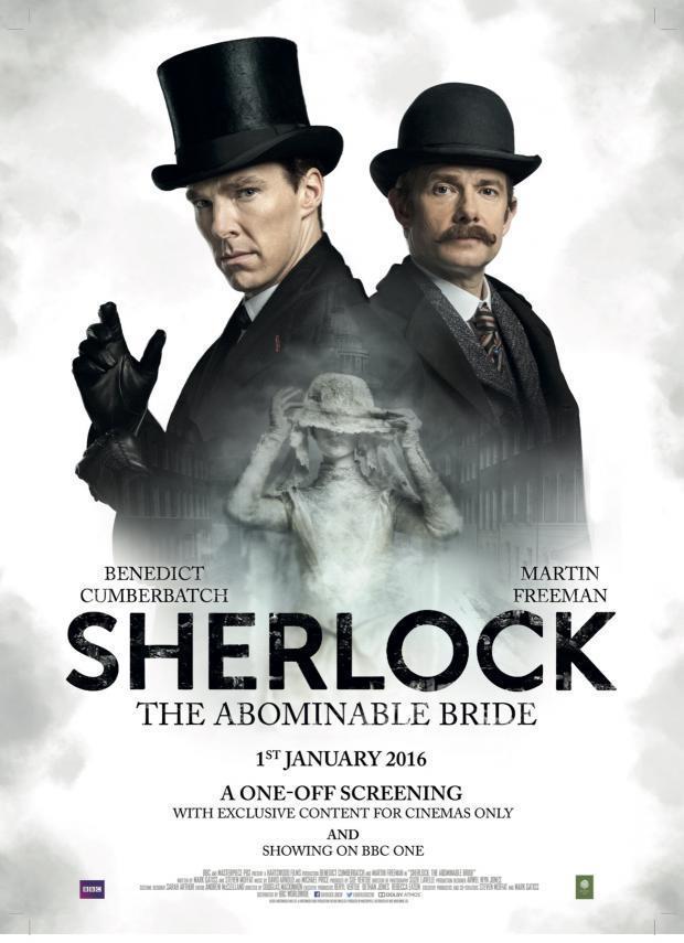 Martin Freeman, Benedict Cumberbatch, and Natasha O'Keeffe in Sherlock (2010)