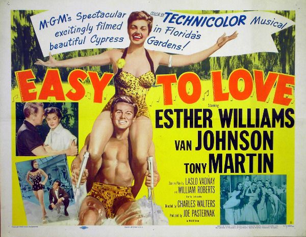 Van Johnson, Tony Martin, and Esther Williams in Easy to Love (1953)