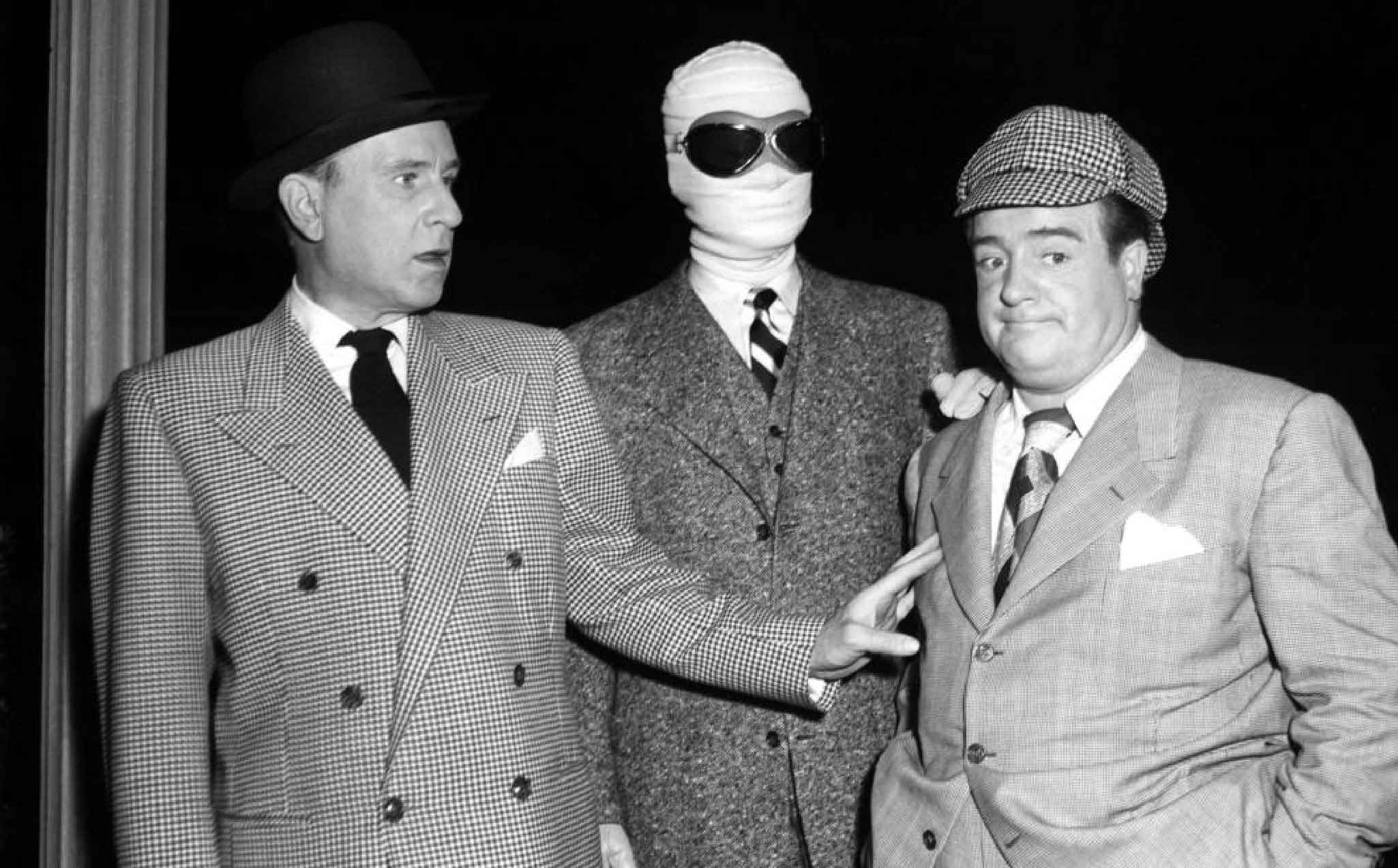 Bud Abbott, Lou Costello, and Arthur Franz in Bud Abbott and Lou Costello Meet the Invisible Man (1951)