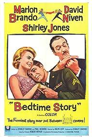 Marlon Brando, David Niven, and Shirley Jones in Bedtime Story (1964)
